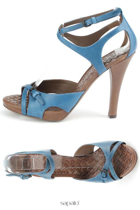 Босоножки Bottega Veneta Босоножки голубые