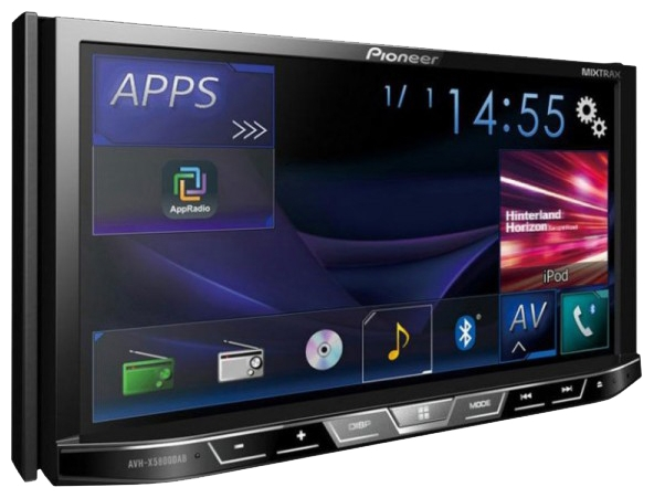 pioneer avh x5800bt. Black Bedroom Furniture Sets. Home Design Ideas