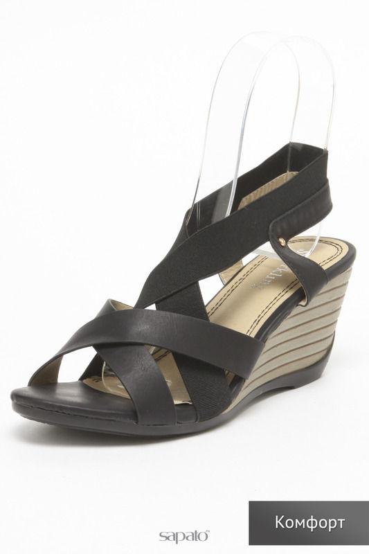 Босоножки SPARKLING Туфли чёрные