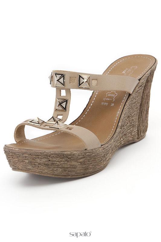 Сабо Cerutti Туфли летние открытые коричневые