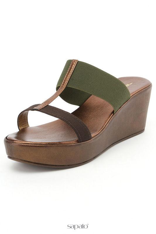 Сабо Tervolina Туфли летние открытые коричневые