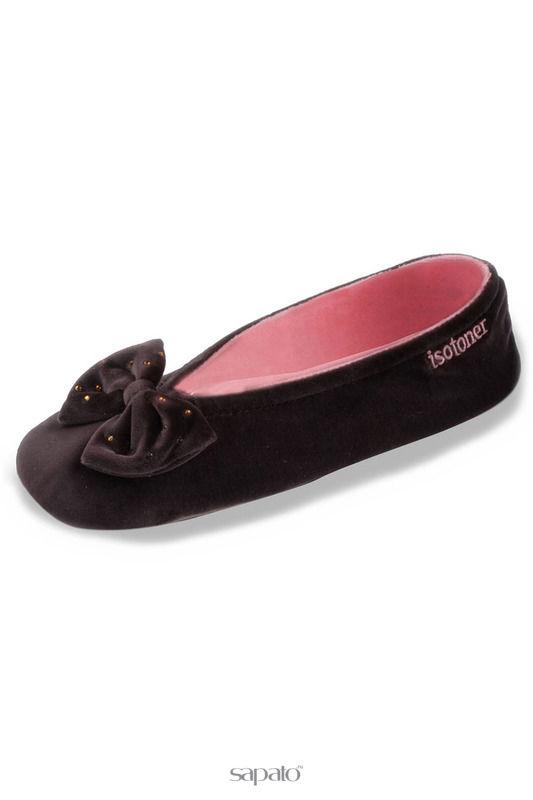 Домашняя обувь Isotoner Балеринки коричневые