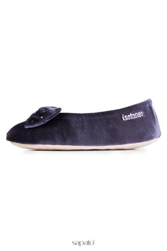 Домашняя обувь Isotoner Балеринки серые