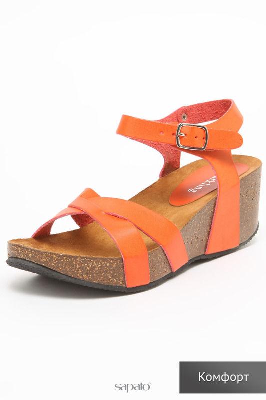 Босоножки SPARKLING Туфли оранжевые