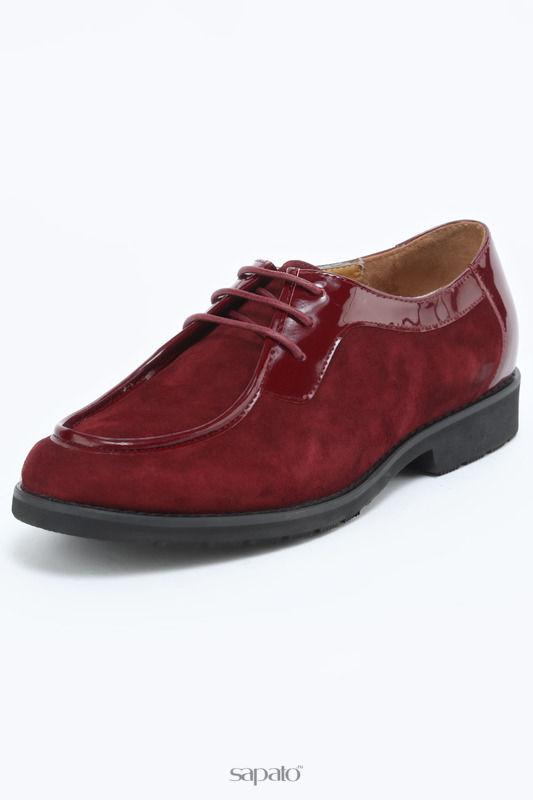 """Ботинки EL""""ROSSO Полуботинки красные"""
