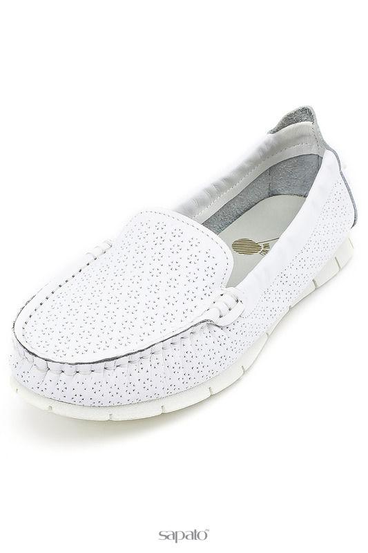 Мокасины Dino Ricci trend Туфли белые