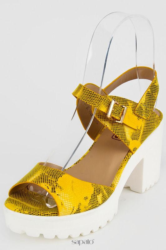 Босоножки OBEROS Туфли жёлтые