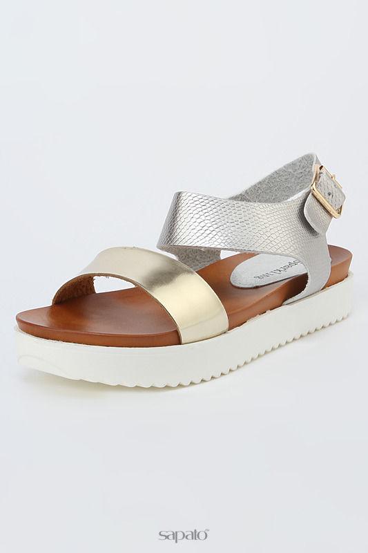 Босоножки SPARKLING Туфли серебристые