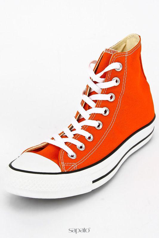 Кеды Converse Полуботинки кроссовые оранжевые