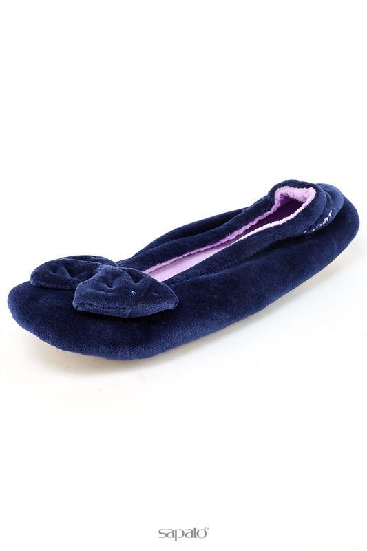 Домашняя обувь Isotoner Балеринки синие