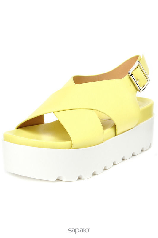 Босоножки SPARKLING Туфли жёлтые