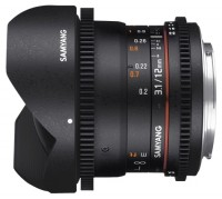 Samyang 12mm T3.1 ED AS NCS VDSLR Fish-eye Samsung NX