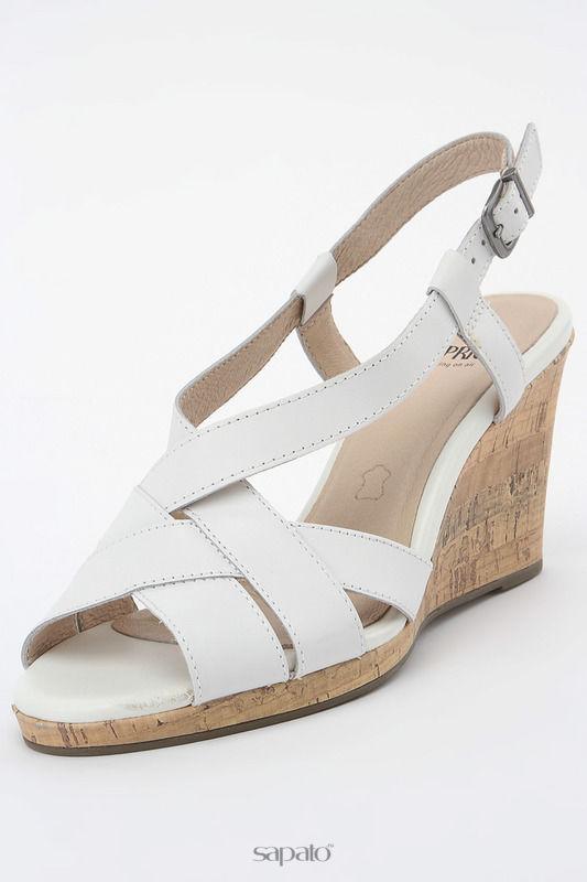 Босоножки Caprice Туфли летние открытые белые