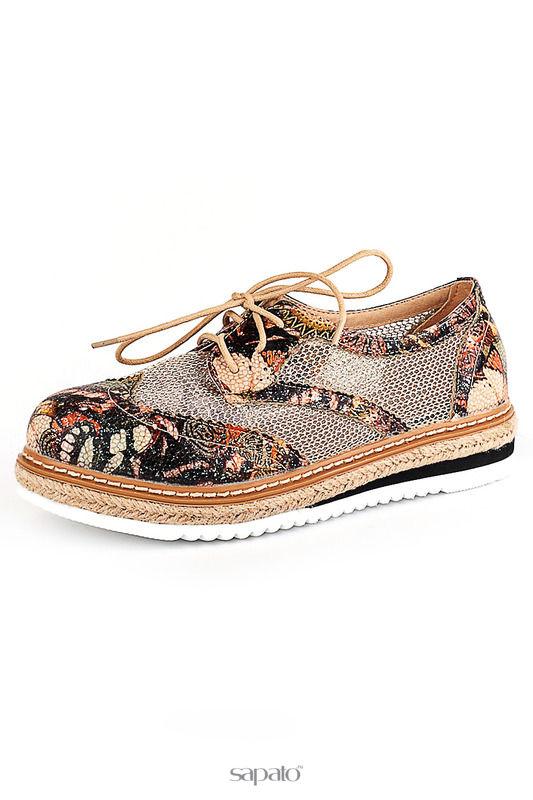 Ботинки Riccorona Туфли золотистые