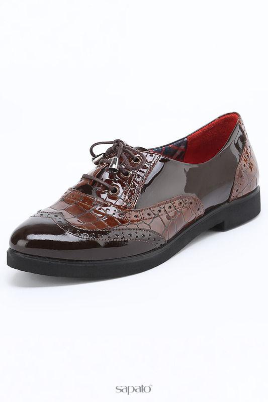 Ботинки ROVIGO Оксфорды коричневые