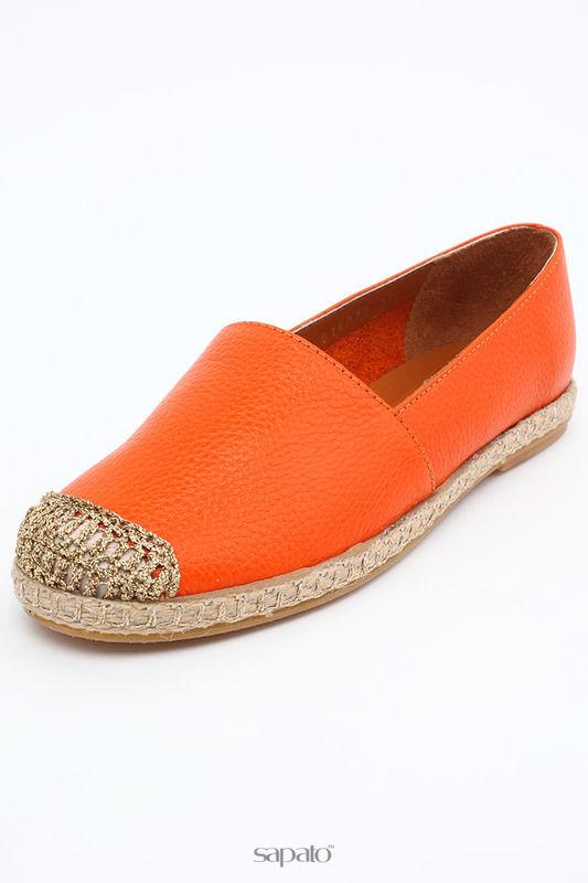 Мокасины SpringWay Туфли оранжевые