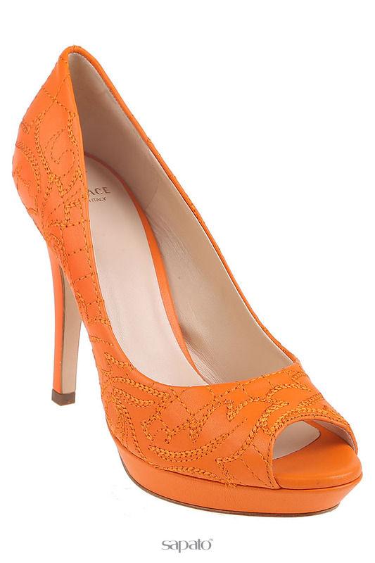 Туфли Versace Туфли оранжевые