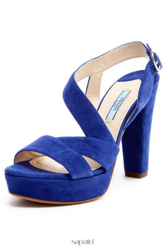 Босоножки Prada Босоножки синие