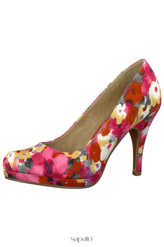 Туфли Tamaris Лодочки розовые