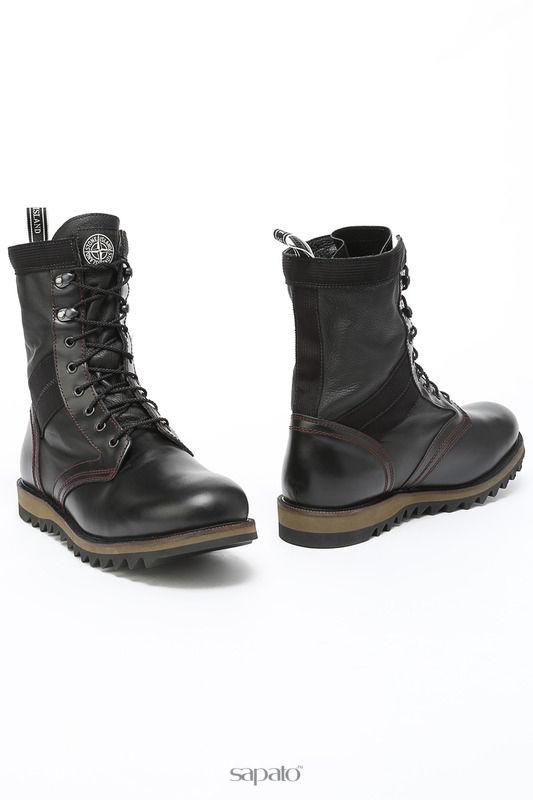 Ботинки Stone Island Ботинки чёрные