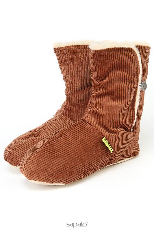 """Домашняя обувь HOLTY Тапочки """"Сапожок"""" коричневые"""