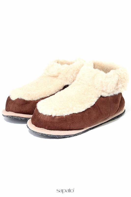 Домашняя обувь HOLTY Тапочки-башмаки бежевые