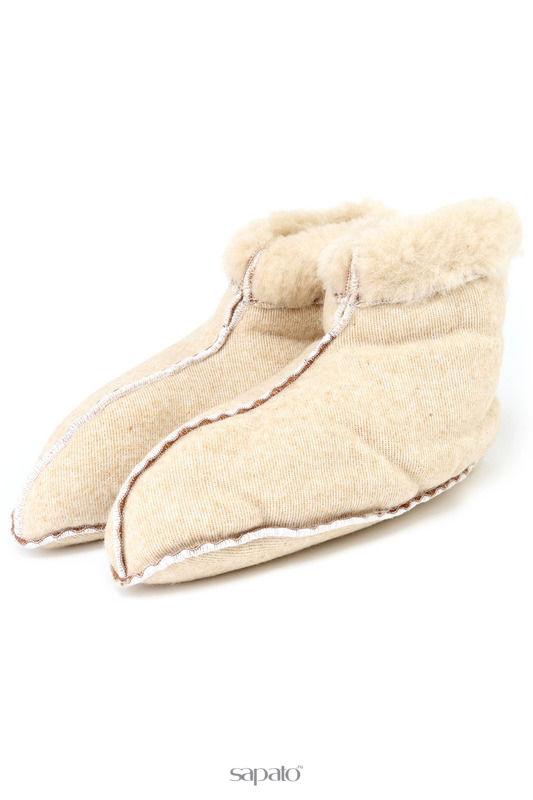 Домашняя обувь HOLTY Тапочки-носки в хангере бежевые