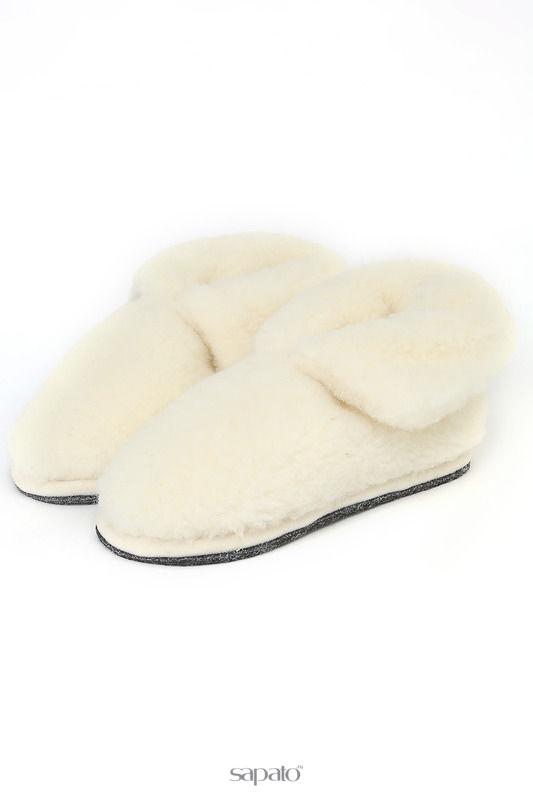 Домашняя обувь HOLTY Тапочки-теплушки в коробке белые
