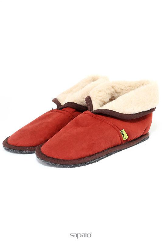 Домашняя обувь HOLTY Тапочки-теплушки красные