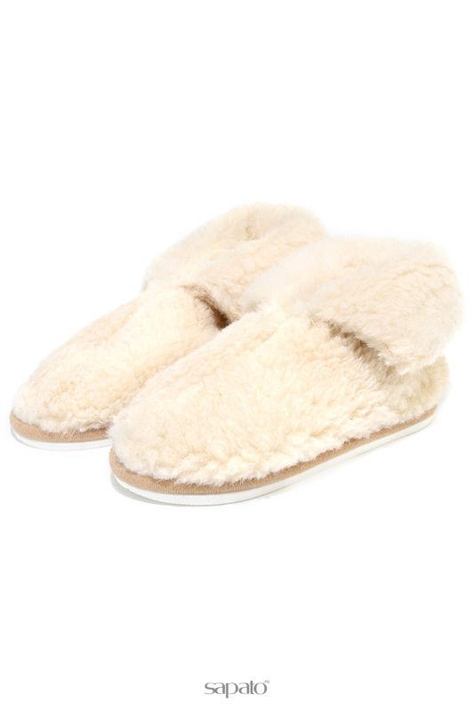Домашняя обувь HOLTY Тапочки-теплушки на ЭВА-поре бежевые