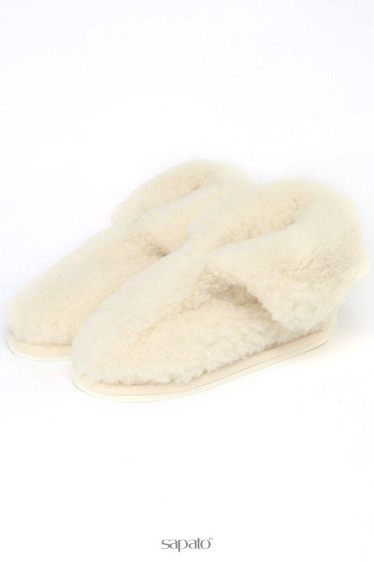 Домашняя обувь HOLTY Тапочки-теплушки на ЭВА-поре белые