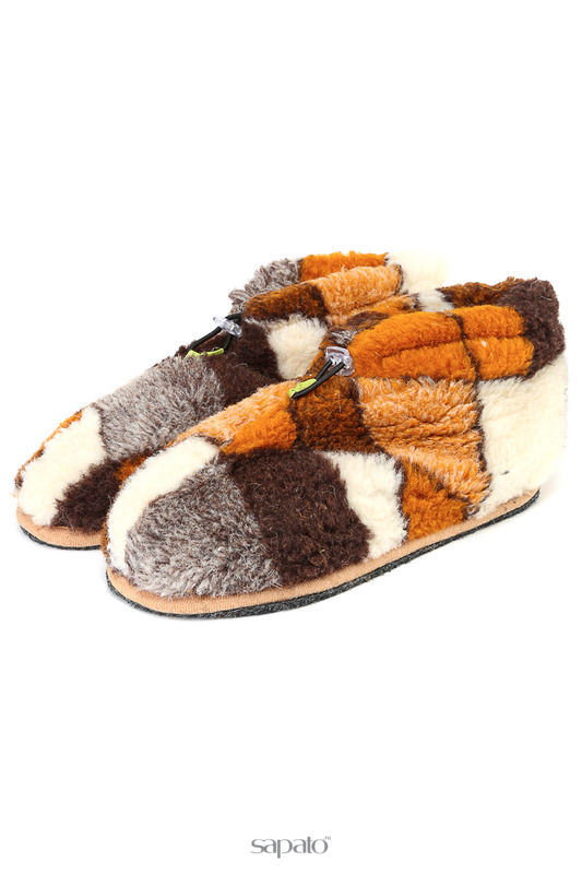 Домашняя обувь HOLTY Тапочки-теплушки укороченные Мультиколор