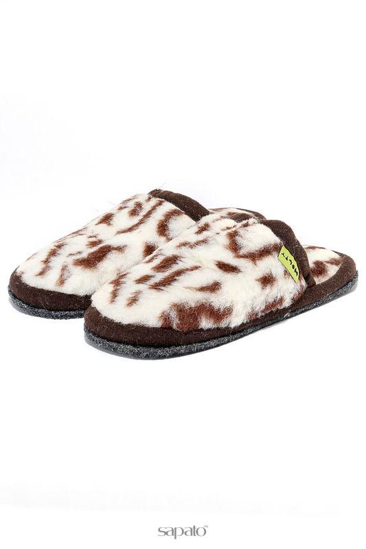 Домашняя обувь HOLTY Шлепанцы меховые на ЭВА-поре Мультиколор