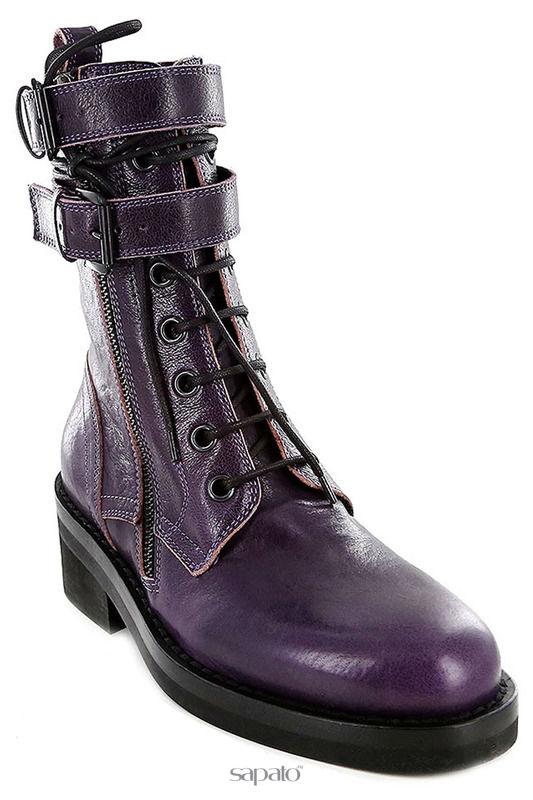 Ботинки Ann Demeulemeester Ботинки фиолетовые