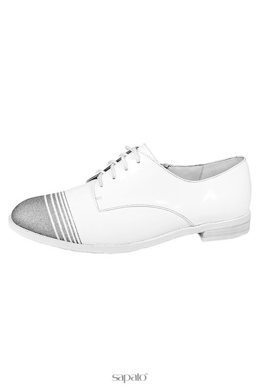 Туфли Bravo Полуботинки белые