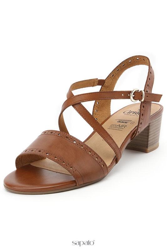 Босоножки Caprice Туфли летние открытые коричневые