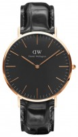 Daniel Wellington Classic Black Reading Rose Gold