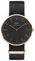 Daniel Wellington Classic Black Cornwall Rose Gold